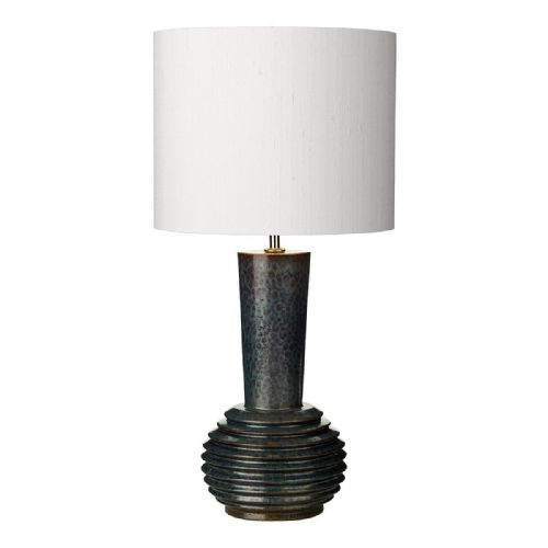 Liquid Table Lamp Ribbed Black/Oil Finish Small Base Only (Hand made, 7-10 day Delivery)
